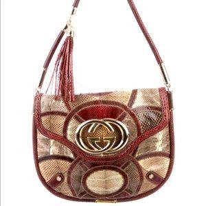 Gucci Patchwork Python & Lizard Britt Shoulder Bag